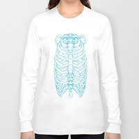 skeleton Long Sleeve T-shirts featuring Skeleton by Robbie Drew Dixon