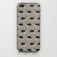 Border Collie dog pattern pet friendly dog art dog lover gifts with favorite dog breeds iPhone & iPod Skin