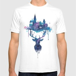 Always - Magical Deer in a Wizard World in watercolor T-shirt