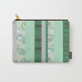 French Stripe Green/Grey Carry-All Pouch