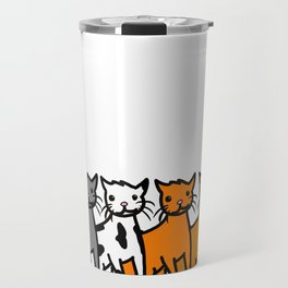 Cattern Pattern | Veronica Nagorny Travel Mug