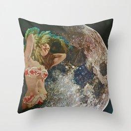 Moon Maid Throw Pillow