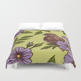 Purple Wild Rose Duvet Cover