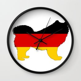 German Flag - Samoyed Wall Clock