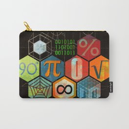 Math Game in black Carry-All Pouch