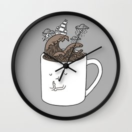 Brainstorming Coffee Mug Wall Clock