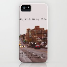 perks of being a wallflower - happy + sad iPhone Case
