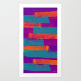 Tone in Stripes Art Print