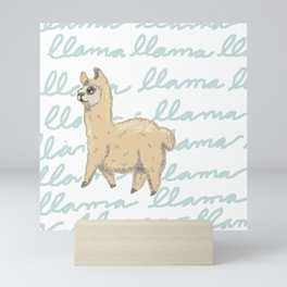 Llama Be My Best Mini Art Print