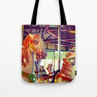 racing Tote Bags featuring Still racing by Vorona Photography