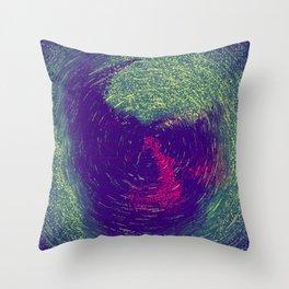 Skull Painting Throw Pillow