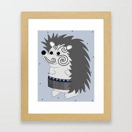 Mr Matuku (Grey) Framed Art Print