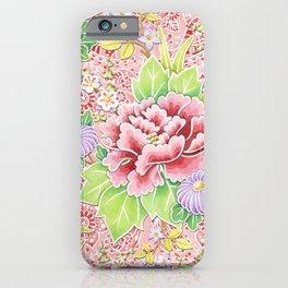 Pink Paisley Kimono Bouquet iPhone Case