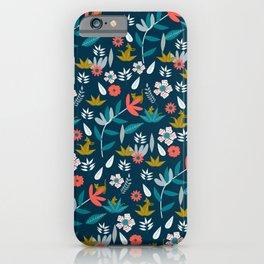 Floral hide and seek iPhone Case