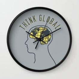 Think Global Wall Clock