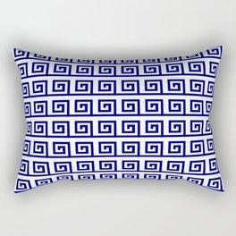 Antic pattern 19- roman or greek pattern - blue Rectangular Pillow