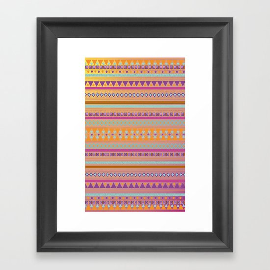 Caliente Tribal Party Framed Art Print