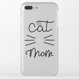 Cat Mom - Whisker Clear iPhone Case