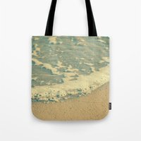 swimming Tote Bags featuring Swimming by MundanalRuido