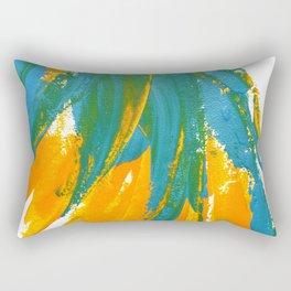 Wings Collection orange/cyan Rectangular Pillow