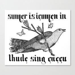 Lhude Sing Cuccu Canvas Print