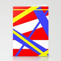 bands Stationery Cards featuring Bands 2 retro stripes by Brian Raggatt