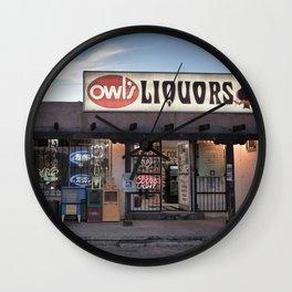 Liquor Store Santa Fe Wall Clock
