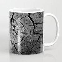 tree rings Mugs featuring Rings by Jacob Haynes