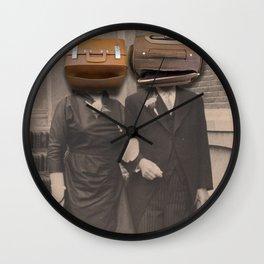 a match (luggage) Wall Clock