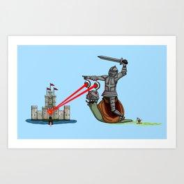 The Knight and the Snail - Random edition Art Print