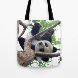 PLAYING PANDA Tote Bag