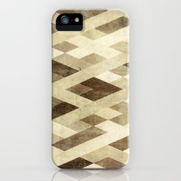 Abstract Pattern in Brown iPhone Case