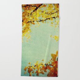 Gingko Branches Beach Towel