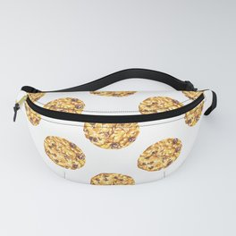 Chocolate Chip Cookie Pattern Watercolor Fanny Pack