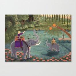 India (mirror) Canvas Print