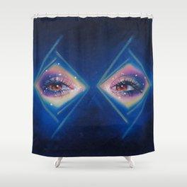 Diamonds in her eyes Shower Curtain
