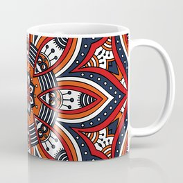 Painterly Nature Boho Floral Mandala Coffee Mug