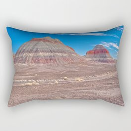 The Teepees of Petrified Forest National Park Arizona Rectangular Pillow
