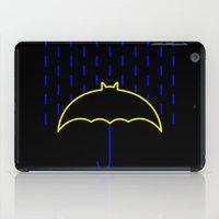 gotham iPad Cases featuring Rainy Gotham by luis pippi