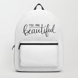 You Are Beautiful Hand Lettering Backpack