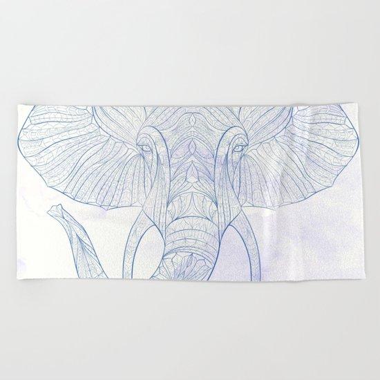 Ethnic Elephant Beach Towel