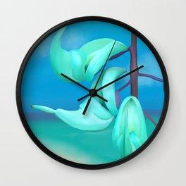 Jade Vine ~ Homage to O'Keeffe Wall Clock