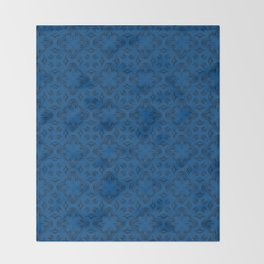 Lapis Blue Shadows Throw Blanket
