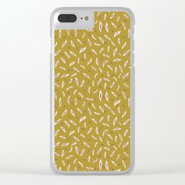 Pretty tossed leaves pattern. Clear iPhone Case