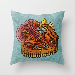 The Crystal Owl Throw Pillow