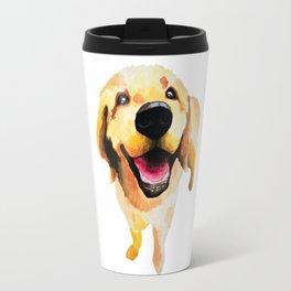 Good Boy / Yellow Labrador Retriever dog art Travel Mug
