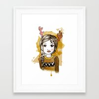 hippie Framed Art Prints featuring Hippie by Janry