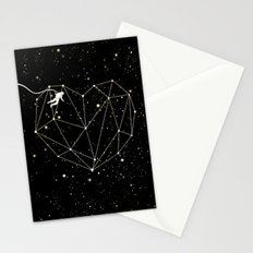 Astronaut Found Love in Space Stationery Cards