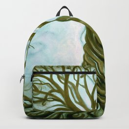 Blue and Brown Swirly Tree of Life by Renee Womack Backpack