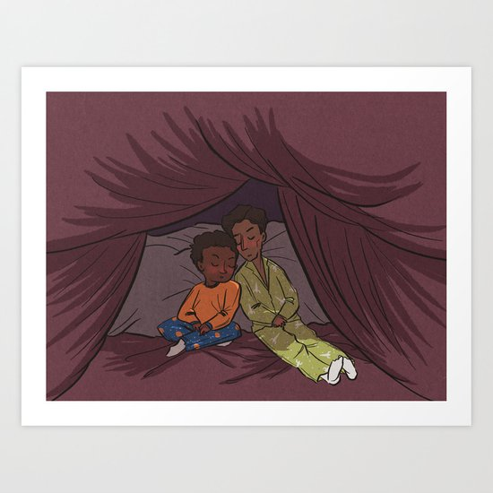 Troy and Abed's Pillow-Blanket Fort Art Print